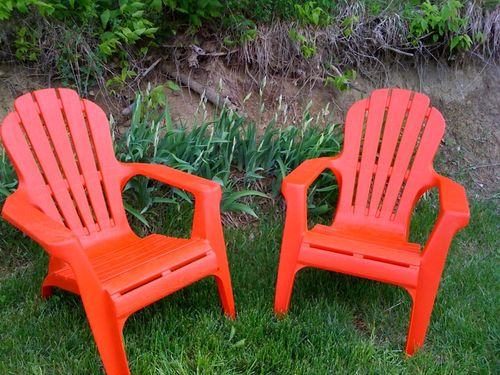red adirondack chairs plastic 2